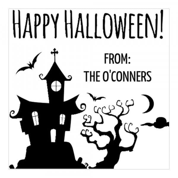 Tampon monogramme carré - Joyeux Halloween !