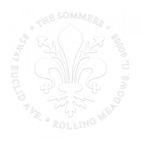 Pince à gaufrer monogramme ronde - Fleur de Lys