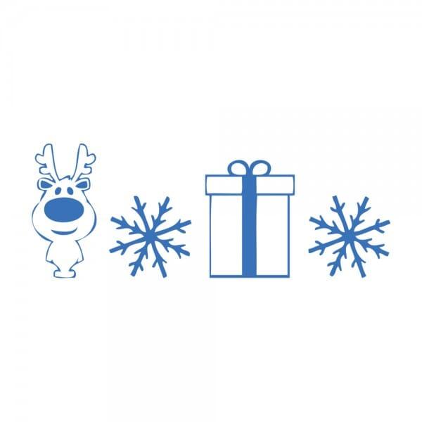 Trodat Printy 4911 Tampon formule - Renne, flocons de neige, cadeau