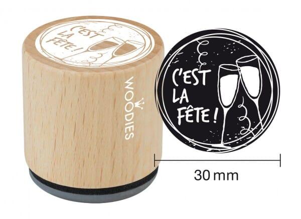 Woodies tampon C'est la fête - verres