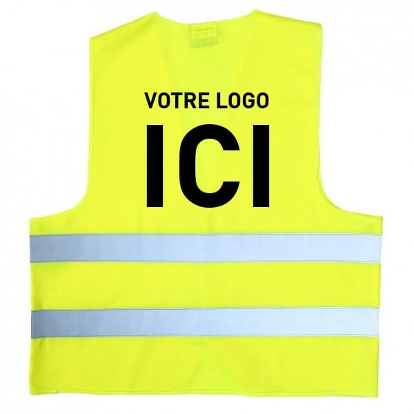 Gilet de sécurité jaune à personnaliser