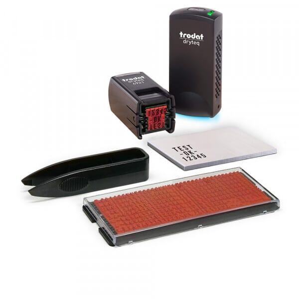 Kit Trodat Dryteq Tampon Multi-Surfaces 4921 avec Mini-Imprimerie (288 caractères)