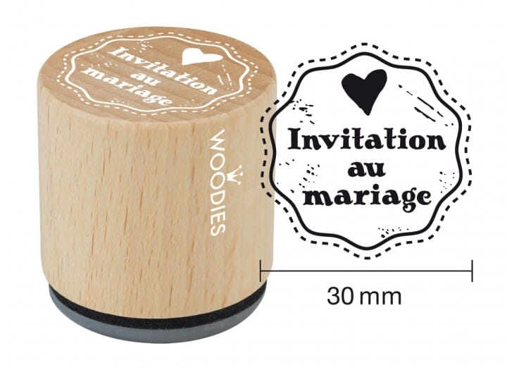 Woodies tampon Invitation au mariage