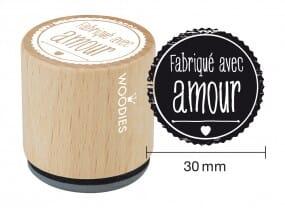 Woodies tampon Fabriqué avec amour