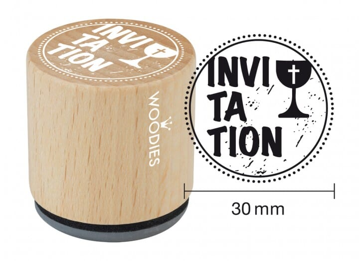 Woodies tampon Invitation communion