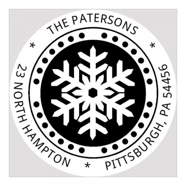 Pince à gaufrer monogramme ronde - Flocon de neige en hiver
