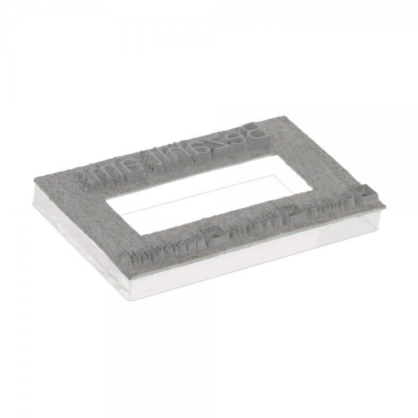 Plaque de texte personnalisée pour Trodat Metal Line double dateur 5466PL - 56x33 mm - 2 + 2 lignes