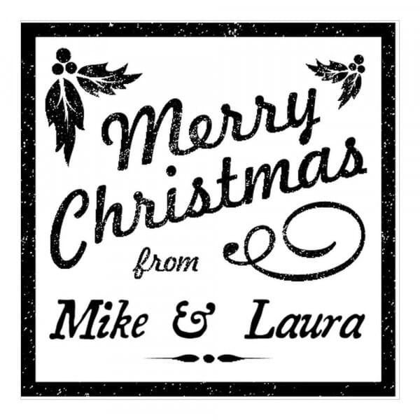 Tampon monogramme carré - Joyeux Noël !