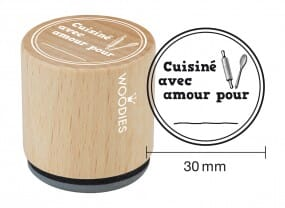 Woodies tampon Cuisiné avec amour 1