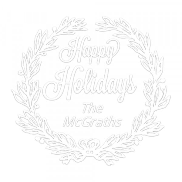 Pince à gaufrer monogramme ronde - Bonnes vacances !