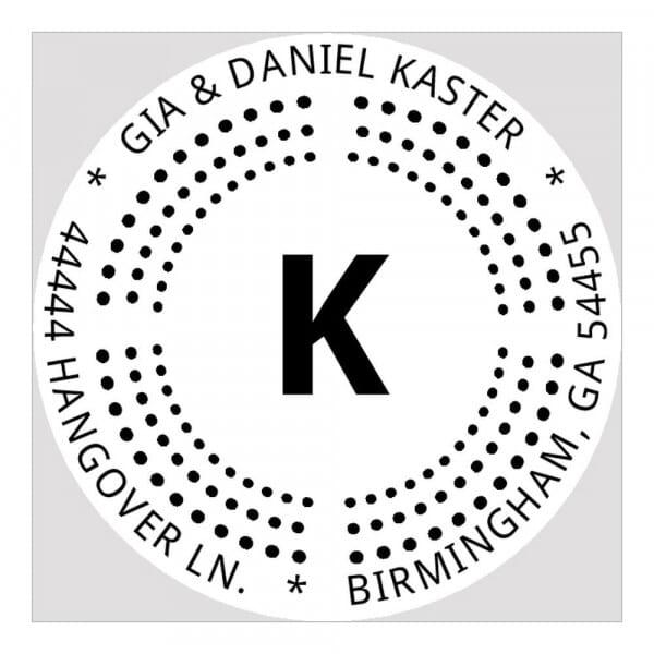 Pince à gaufrer monogramme ronde - Pointillisme