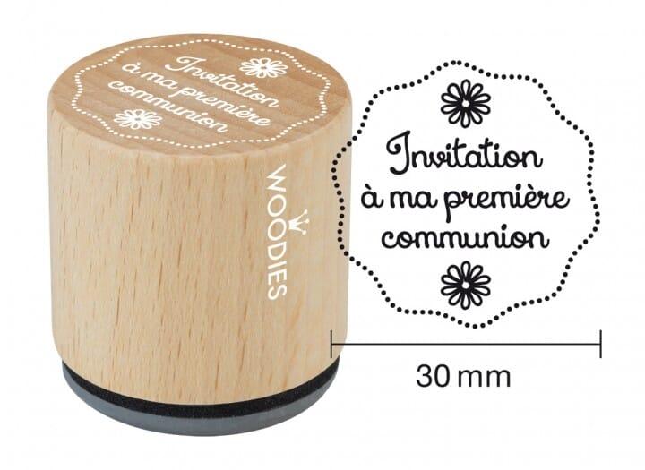 Woodies tampon Invitation à ma première communion