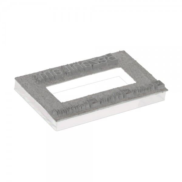 Plaque de texte personnalisée pour Trodat Metal Line dateur 54110 - 85x55 mm - 5 + 5 lignes