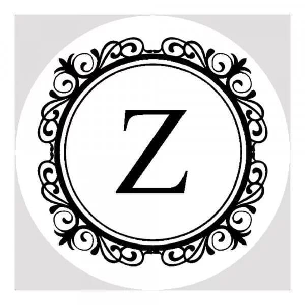 Pince à gaufrer monogramme ronde - Cercle élégant