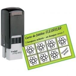 Tampon pour une carte de fidélité - Trodat Printy 4921 - 12 x 12 mm