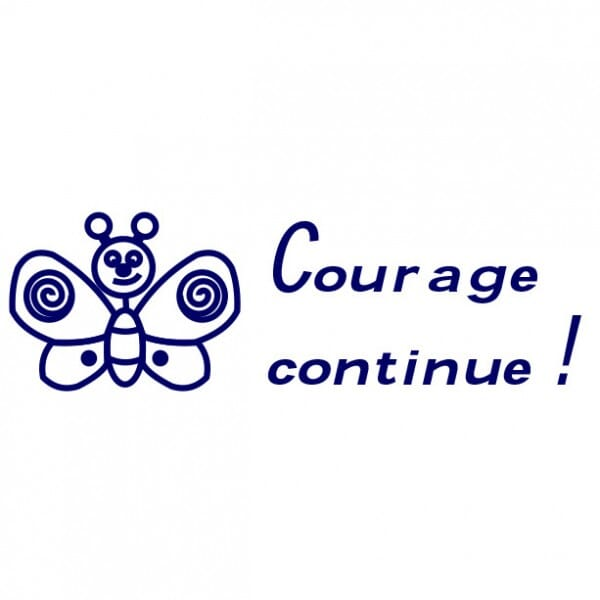 Tampon scolaire Trodat Printy 4910 - Courage continue !