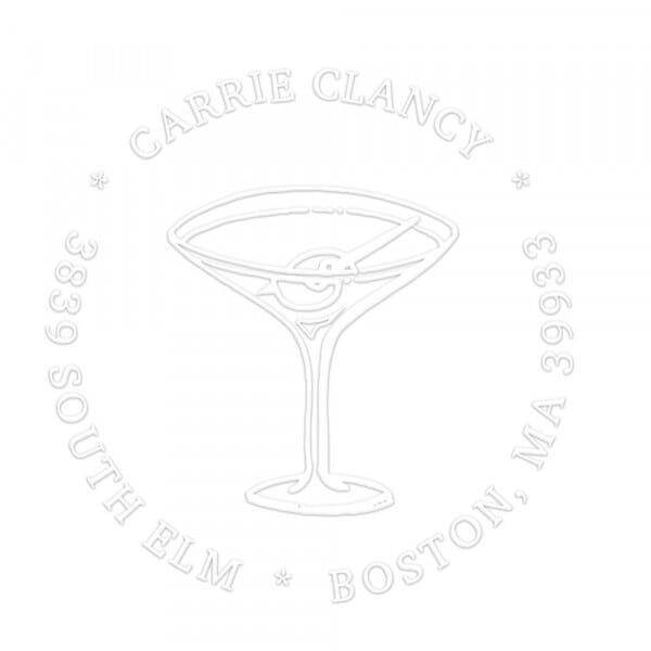 Pince à gaufrer monogramme ronde - Cocktail