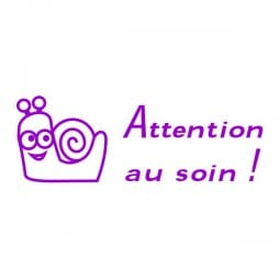 Tampon scolaire Trodat Printy 4910 - Attention au soin !