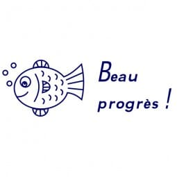 Tampon scolaire Trodat Printy 4910 - Beaux progrès !