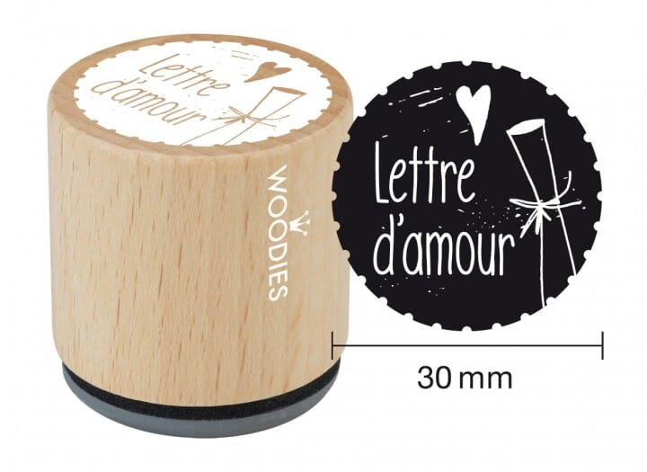 Woodies tampon Lettre d 'amour