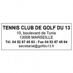 Tampon pour un club de sport - Trodat Printy 4913 - 58 x 22 mm