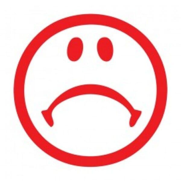"Tampon smiley ""triste"" pour enseignant - Trodat Printy 4922 20x20 mm"