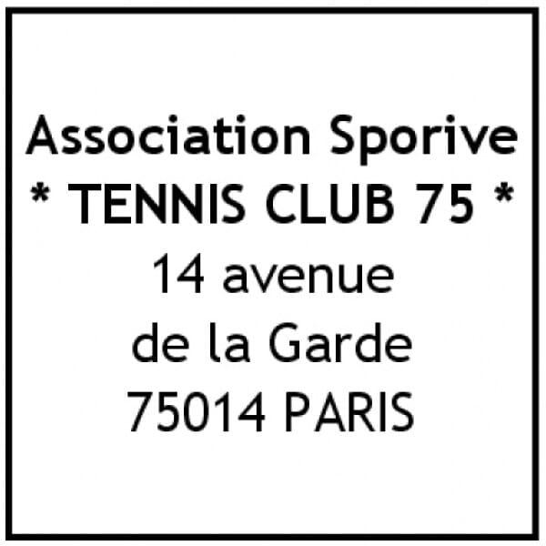 Tampon pour un club de sport - Trodat Printy 4923 - 30 x 30 mm