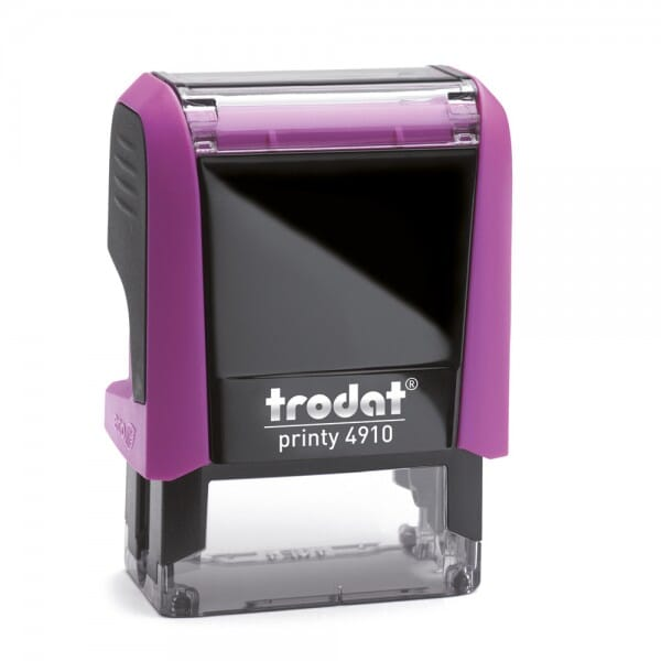 """Tampon pour enseignant prêt à l'emploi, formule """"Soigne l'écriture !"""", Encrage automatique violet"""