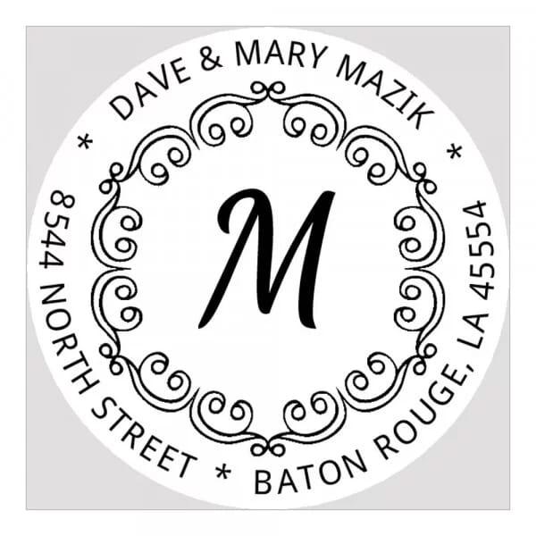 Pince à gaufrer monogramme ronde - Boucles décoratives avec initiales