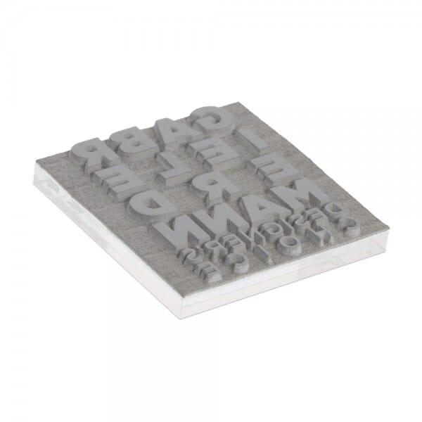 Plaque de texte personnalisée pour Trodat Printy 4923 30x30 mm - 6 lignes