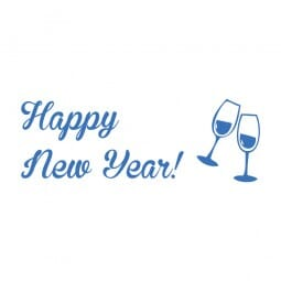 Trodat Printy 4911 Tampon formule Happy New Year- Glasses