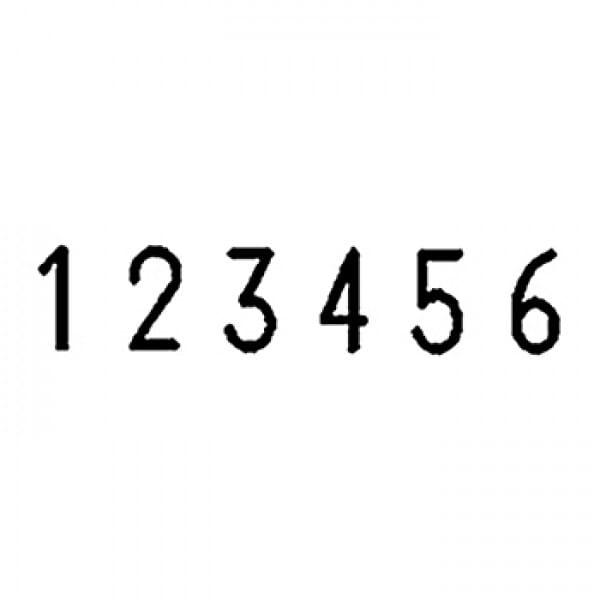 Folioteur Reiner - 6 chiffres, 4,5mm - Police Bâton