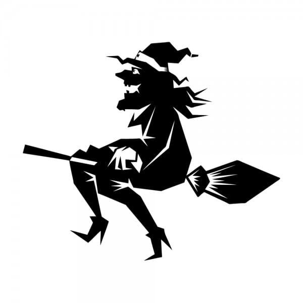 Trodat Printy 4921 Tampon formule Halloween- Witch on broom