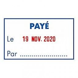 """Trodat Metal Line dateur 5460L2 """"Payé le... Par…"""""""