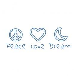 Trodat Printy 4911 Tampon formule Peace Love Dream
