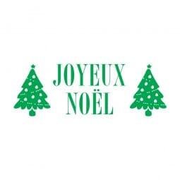 Trodat Printy 4911 Tampon formule - Joyeux Noël- 2 arbres