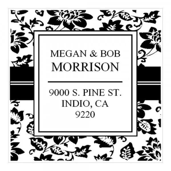 Tampon monogramme carré - Jardin des plantes