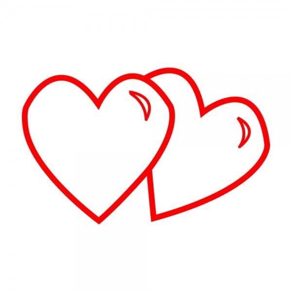 Trodat Printy 4921 Tampon formule Valentine- Two hearts