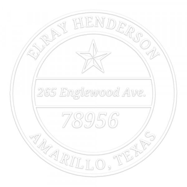 Prensa de sellado en seco monograma redondo - Estrella