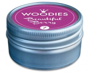 Woodies tampon encreur Beautiful Berry