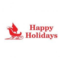 Trodat Printy 4911 Tampon formule Happy Holidays- Sleigh