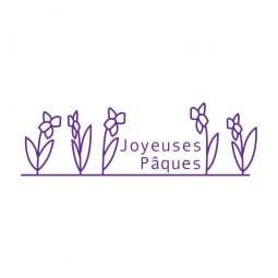 Trodat Printy 4911 Tampon formule - Joyeuses Pâques- Fleurs