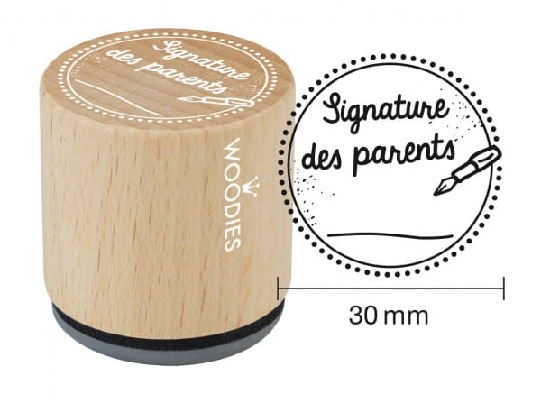 Woodies tampon Signature des parents