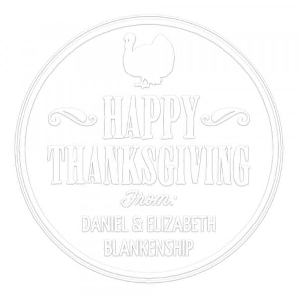 Pince à gaufrer monogramme ronde - Happy Thanksgiving
