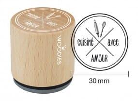 Woodies tampon Cuisiné avec amour 2