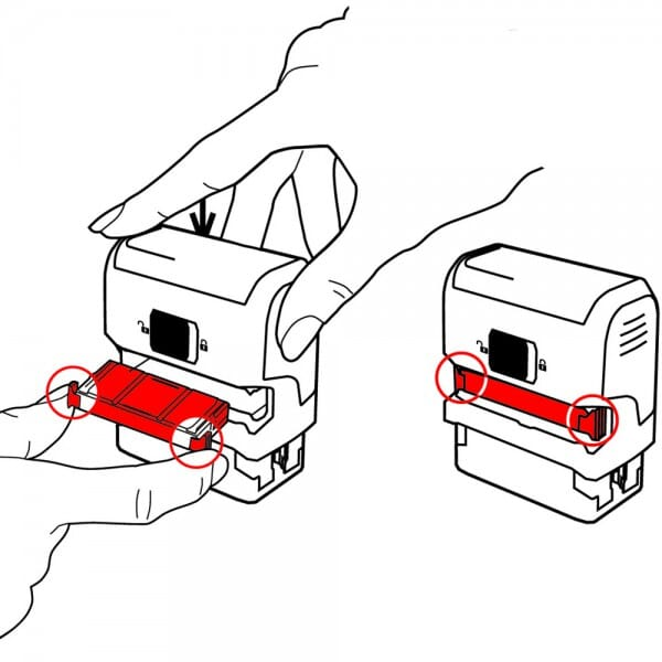 Tampon de association - Trodat Printy 4915 - 70 x 25 mm