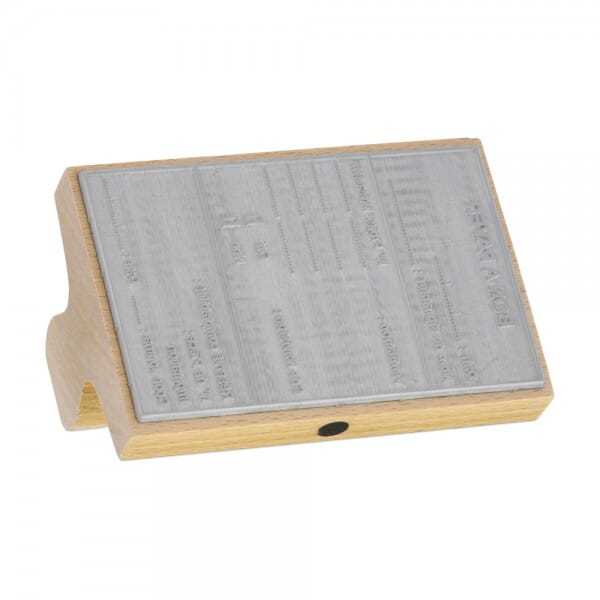 Tampons bois personnalisé - 80 x 90 mm - 15 lignes