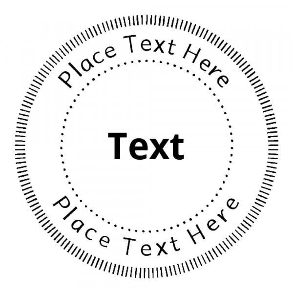 Tampon monogramme rond - Cercles décoratifs en pointillé