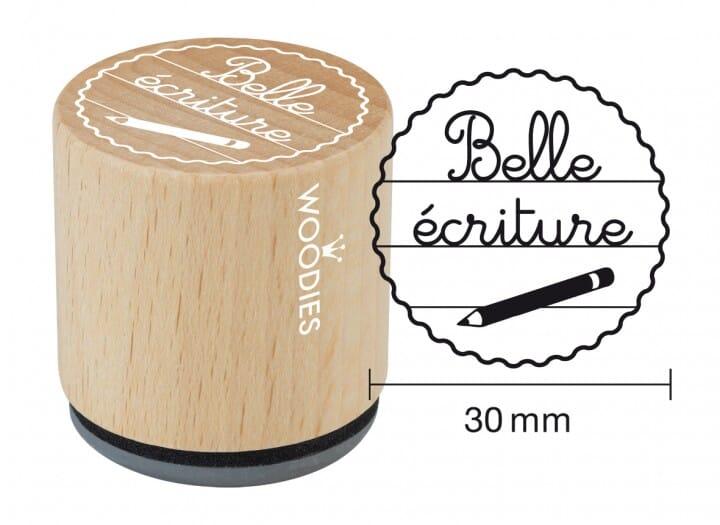 Woodies tampon Belle écriture