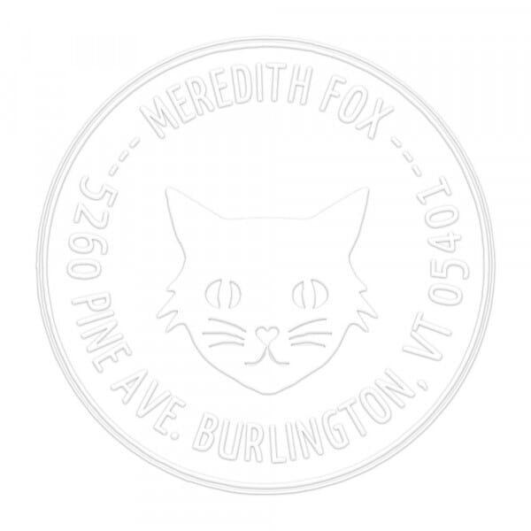 Pince à gaufrer monogramme ronde - Mon Chat